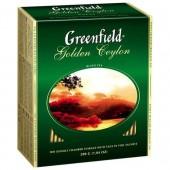 Чай пакетированный Golden Ceylon ТМ Greenfield 100 шт.