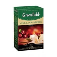 Чай черный Vanilla Cranberry ТМ Greenfield 100 г
