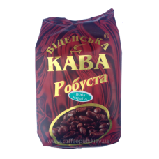 Кофе в зернах Віденська кава Робуста Индия Черии АА 500г