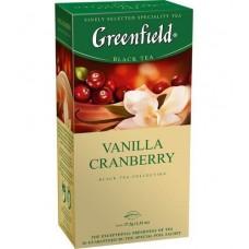 Чай пакетированный Vanilla Cranberry ТМ Greenfield 25 шт.